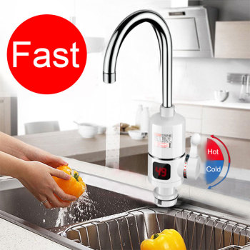 New Electric Kitchen Water Heater Tap Instant Hot Water Faucet Heater Cold Heating Faucet Tankless Instantaneous Water Heater цена 2017