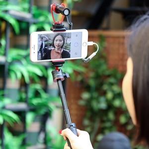 Image 3 - ميكروفون مع اكسسوارات Gimbal LED الفيديو الضوئي الحذاء البارد يوتيوب تسجيل الدخول إعداد الفيديو للهواتف الذكية DJI oaza موبايل موزا