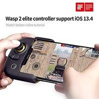 Flydigi Wasp 2 Bluetooth Gamepad Android Pubg Mobile Half hand Phone Pad Controller per Tablet per telefono cellulare esc IOS / Android