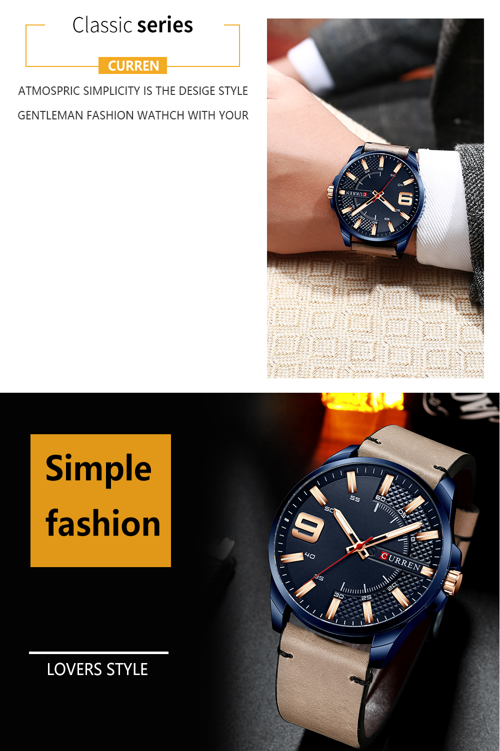 H4c233ff58f6d4aa19aea508c69cc7566G Top Brand Luxury Business Watch Men CURREN Watches