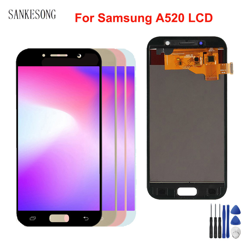 AMOLED/TFT <font><b>LCD</b></font> For <font><b>SAMSUNG</b></font> <font><b>GALAXY</b></font> <font><b>A5</b></font> 2017 A520 A520F SM-A520F <font><b>LCD</b></font> Display Touch <font><b>Screen</b></font> Digitizer Assembly Replacemen image