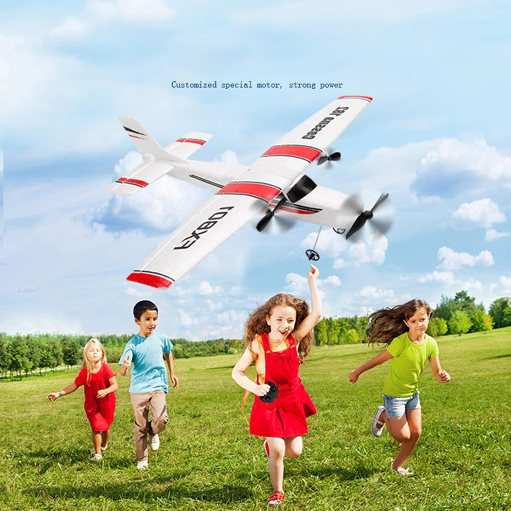 <font><b>RC</b></font> Airplane <font><b>Cessna</b></font> <font><b>182</b></font> FX801 310mm Wingspan Remote Control DIY Aircraft Fixed Wing <font><b>Plane</b></font> Built-In Battery for Beginner image