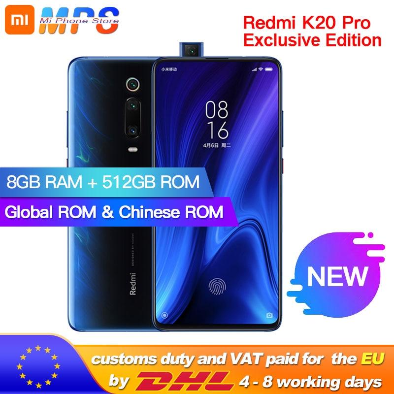 Global ROM Xiaomi Redmi K20 Pro 8GB 512GB Exclusive Edition Smartphone Snapdragon 855 Plus 4000mAh 48MP Triple Cameras 6.39''