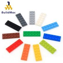 40 adet DIY yapı taşları rakamlar ince tuğla 2x6 nokta 12 renk eğitim yaratıcı boyutu lego ile uyumlu oyuncaklar çocuklar için