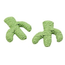 Funny Pet Interactive Toy For Cats Kitten Grinding Claw Molar Cactus Woven By Paper Rope Cat Play Bite Toys