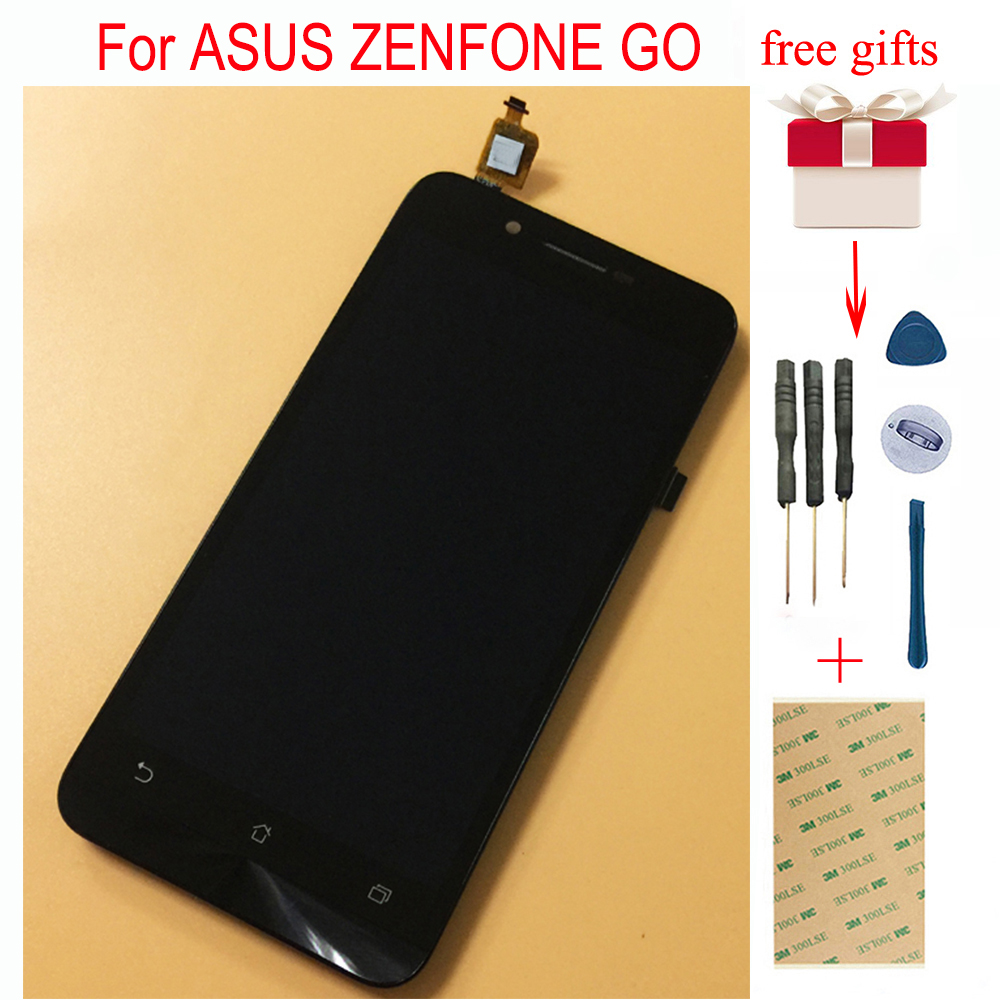 LCD para ASUS ZENFONE IR ZC500TG LCD Touch Z00VD Z00VD ZC500TG LCD Visor Do Painel de LCD Assembléia Toque Digitador Da Tela Com quadro