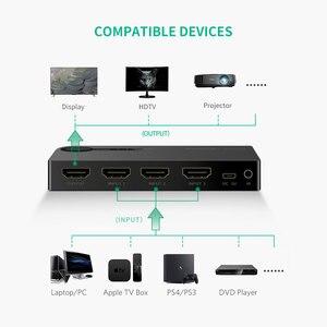 Image 3 - Ugreen interruptor HDMI 4K para Xiaomi Mi Box, 3 puertos, 3 en 1, salida HDMI, concentrador divisor para Xbox 360, PS4, con interruptor de Control, HDMI