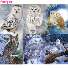 5D Diamond Painting Full Square Animal Owl DIY Resin Picture Mosaic Embroidery Decoration for Home