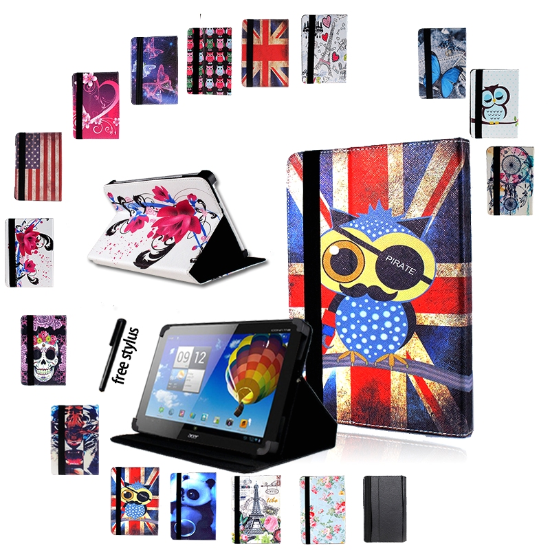 Anti-Dust Leather Tablet Stand Cover Case For Acer Iconia One 7 B1/ 8 B1/ 10 B3 Tablet + Stylus Tablets Protective Shell