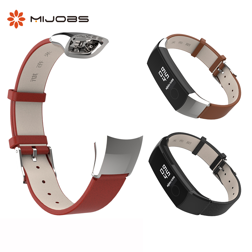 Genuine Leather Wrist Strap for <font><b>Honor</b></font> <font><b>Band</b></font> <font><b>4</b></font> <font><b>Band</b></font> Bracelet for Huawei <font><b>Honor</b></font> <font><b>Band</b></font> <font><b>4</b></font> <font><b>NFC</b></font> Smart Watch Wristbands Accessories image