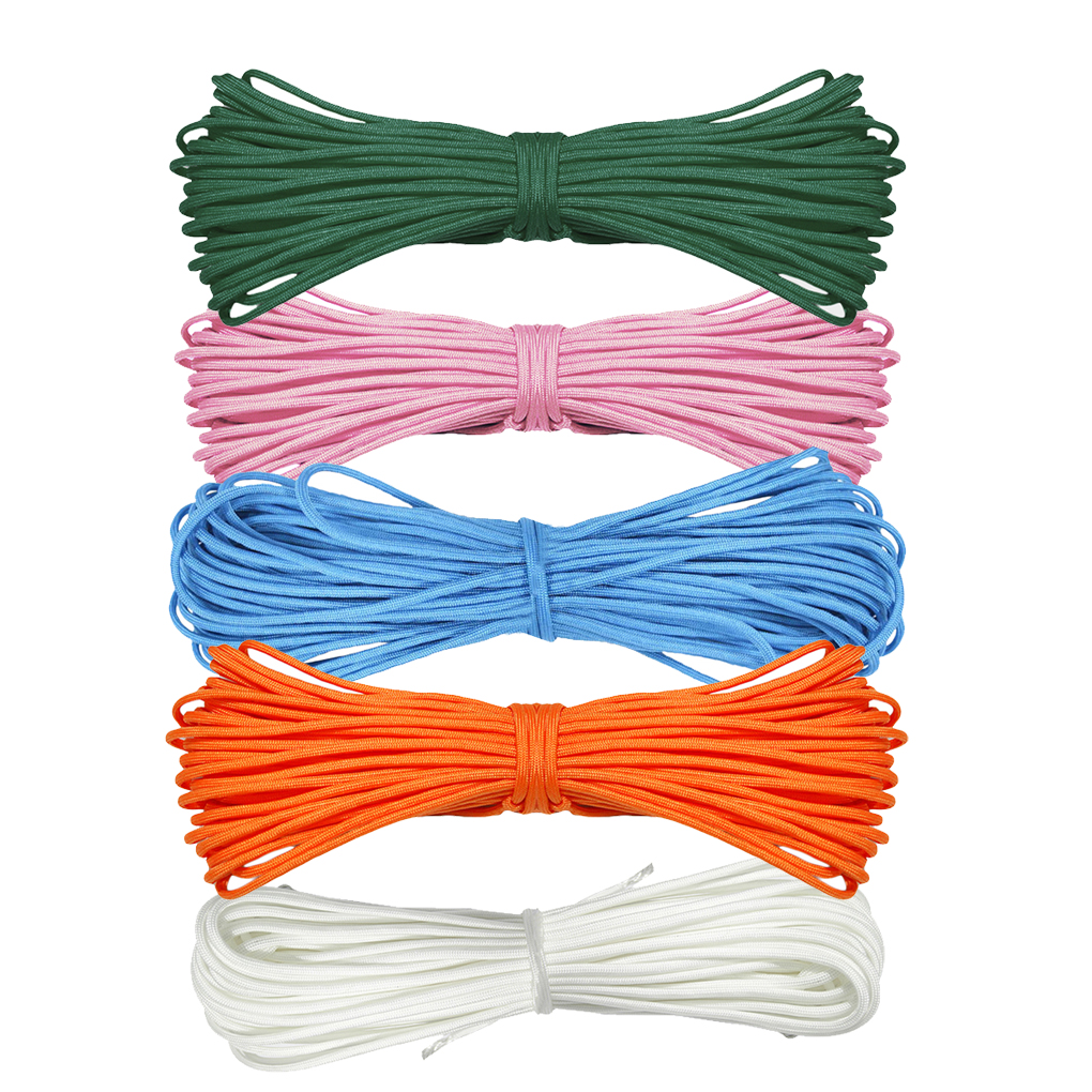 6m Nylon Solid Parachute Cord Multifunctional Clothesline Outdoor Climbing Camping Mil Spec Rope Mountaineering Survival Lanyard