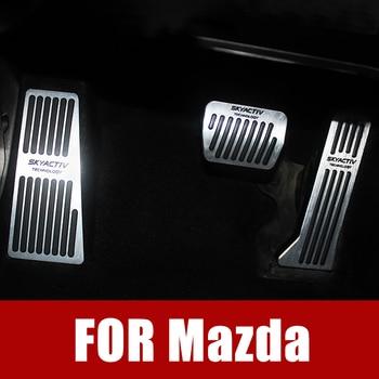 цена на Car Foot Fuel Pedal Brake Clutch Pedals Cover Foot Rest Pedal Cover Pad For MAZDA 2 3 6 Demio Axela ATENZA CX-5 CX5 CX-3 CX9 MX5