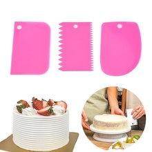 Кондитерский скребок шпатель для украшения торта 3 шт в наборе
