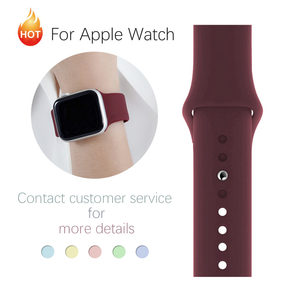 Soft Silicone Sport Band For 38mm Apple Watch Series1 2 3 4 5 42mm Wrist Bracelet Strap For IWatch Band 40mm 44mm Accessories