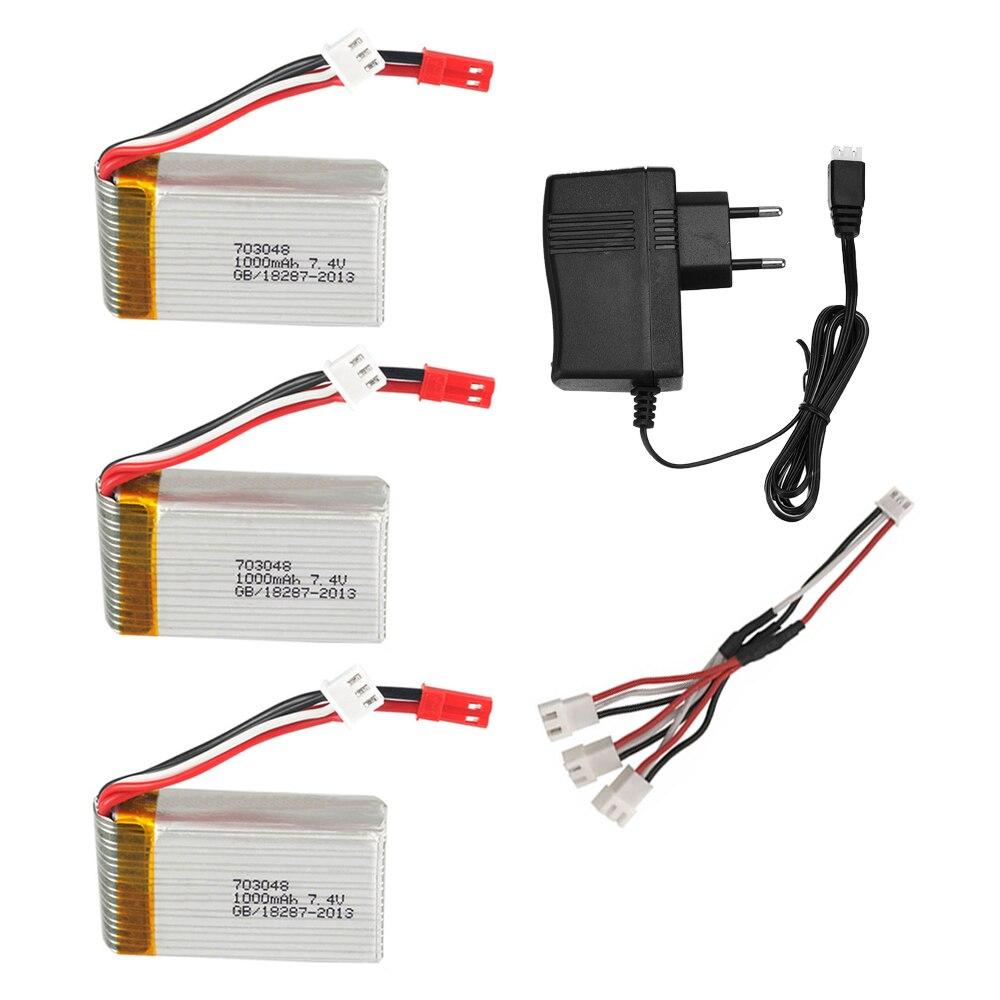 Batterie 7.4V pour MJXRC X600 U829A U829X X600 F46 X601H JXD391 FT007 RC jouets hélicoptère pièces de rechange 2S 7.4V 1000mAh jouet batterie