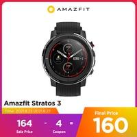 IN Lager Globale Version Neue Amazfit Stratos 3 Smart Uhr GPS 5ATM Musik Dual Modus 14 Tage Smartwatch Für Android 2019