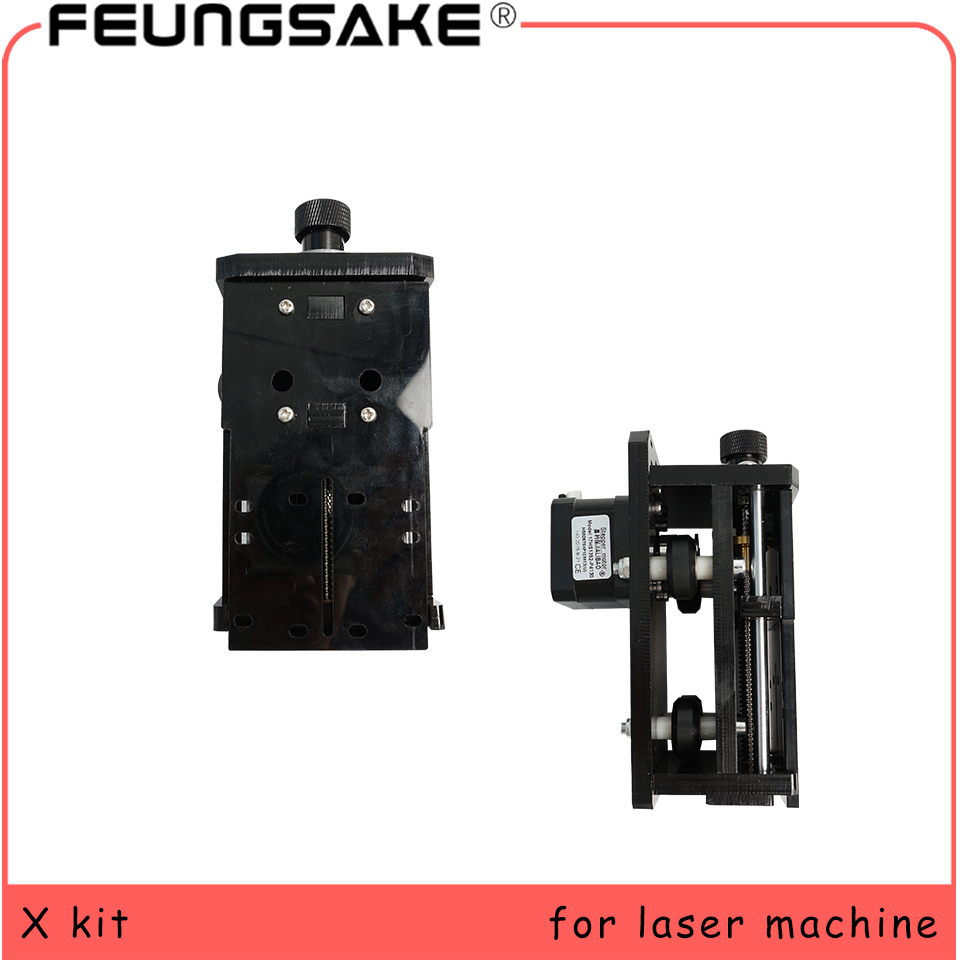 Z Kit For Laser Machine X Axis Sliding Work 55mm Moving Size X Kit For Laser Engrave 3 Axis Z Slider DIY Milling Linear Motion