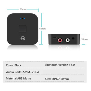 Image 2 - KEBIDU NFC Bluetooth 5.0 Receiver NFC 3.5mm AUX 2RCA Jack Hifi Wireless Adapter 3.5 Audio Receiver Auto On/OFF Bluetooth Adapter