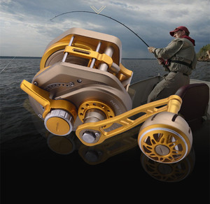 Image 1 - 13+2BB 6.3:1 Fishing Reel Automatic Line Guide Saltwater Boat Spinning Reel Slow Fast CNC Aluminium Full Metal Baitcasting Reel