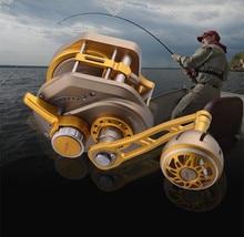 Carrete de pesca automático, guía de línea, para agua salada, para Baitcasting, de aluminio, CNC, lento y rápido, 13 + 2BB 6,3: 1
