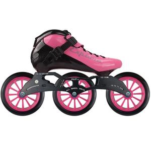 Image 3 - ISPORTS 속도 인라인 스케이트 탄소 섬유 경쟁 스케이트 3*125mm 또는 4*100/110mm 스트리트 레이싱 스케이트 Patines 롤러 블레이드 SH56