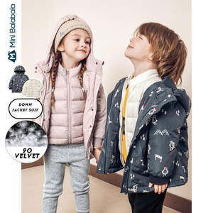 Down-Jacket Party-Overcome-Light Minibalabala Girls Winter Boys And Detachable Two-Piece