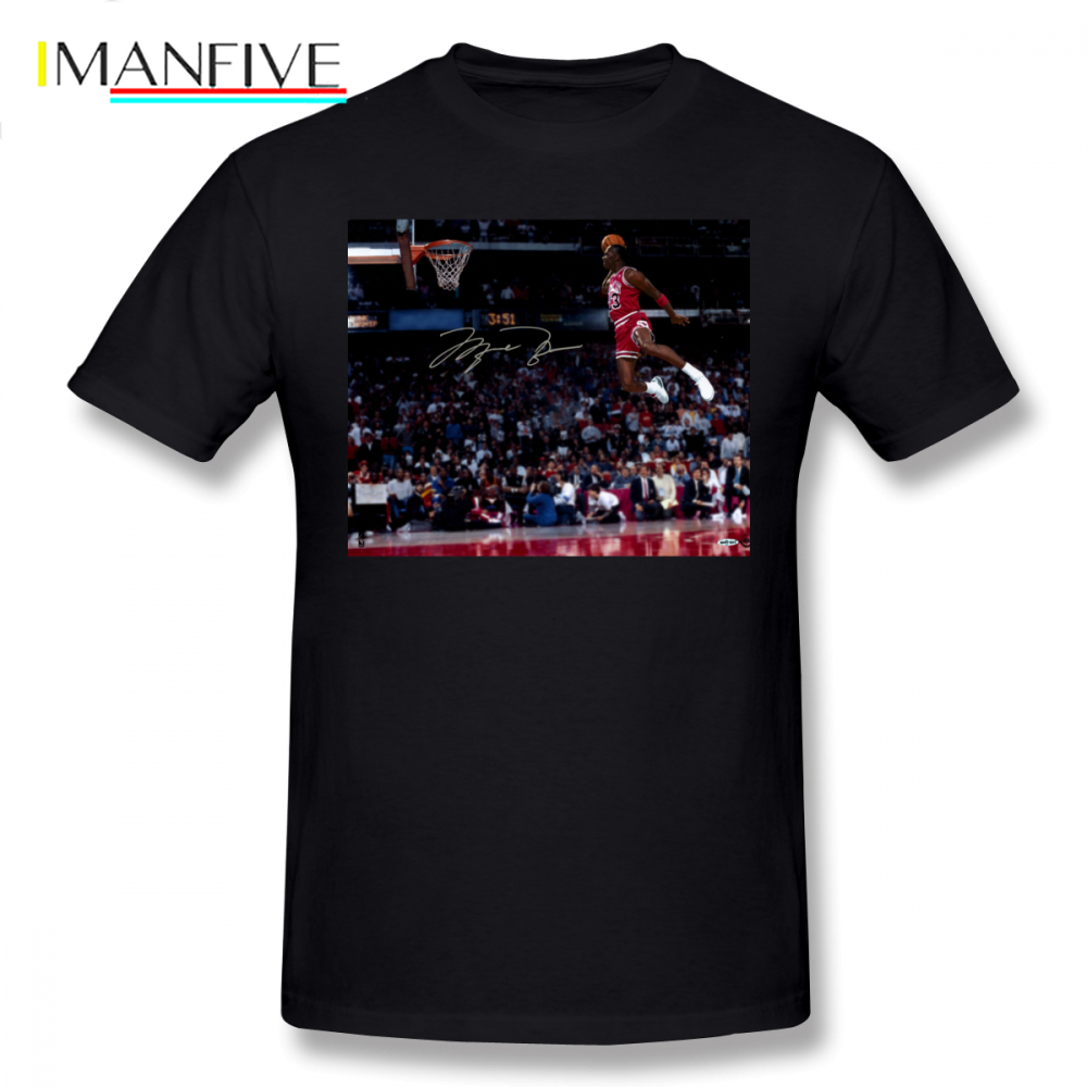 Slam Dunk T Shirt Michael Jordan T-Shirt Plus size  Print Tee Cotton Fashion Mens Short Sleeves Funny Tshirt