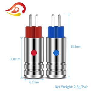 Image 4 - QYFANG conector de cable para auriculares Aurora conector de Audio de 2 pines, Conector de cobre de berilio chapado en rodio para W4R UM3X JH13 JH16, 0,78mm