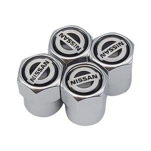 4 шт. Автомобильная крышка клапана s эмблема металлическая крышка чехол для Nissan Qashqai X J10 J11 Trail Tiida Juke аксессуары для автомобиля Стайлинг