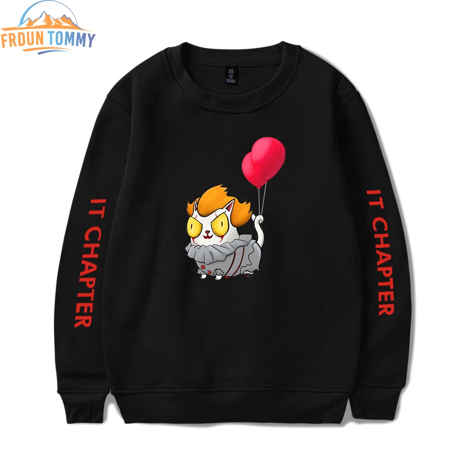 2019 New Stephen King's It 2 Printing Same Paragraph Hoodies Men Fashion Long Cotton Sweatshirt 2019 Hot Sale Trend Casual Wear