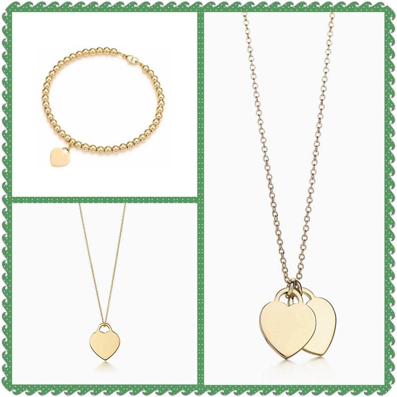 SHINETUNG Original 100% S925 en argent Sterling pendentif en forme de coeur en or Bracelet à la mode femmes Romance Fine haut de gamme bijoux costume
