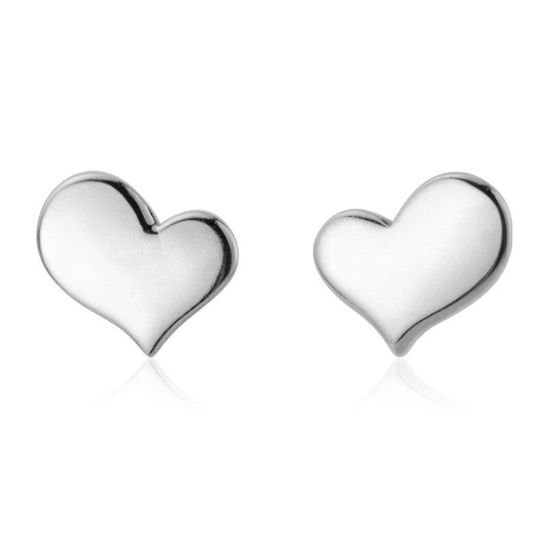 Trust davis Real 925 en argent Sterling coeur vis boucles d'oreilles pour femmes enfants bébé filles enfants Mini minimaliste bijoux DA1979 6