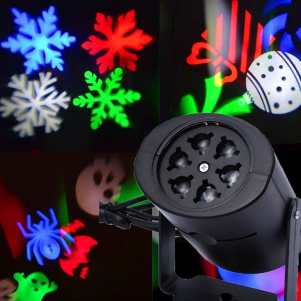 Laser Projector Lamps LED Stage Light Snow For Christmas Party Landscape Light Garden Lamp Outdoor