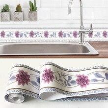Самоклеящиеся обои, 3D Цветы, Геометрическая наклейка, ПВХ, водонепроницаемые наклейки на стену, для гостиной, кухни, ванной комнаты, домашний декор
