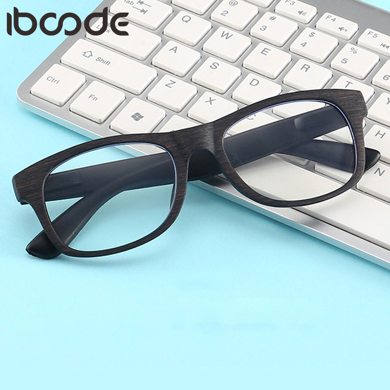 Iboode Retro Reading Glasses Fashion Women Men Wood Grain Frame Anti Blue Light Eyeglasses Eye Prescription +1.0 To +4.0 Unisex