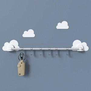 Image 2 - Nuage lien crochet pour cuisine chambre salle de bain reçoit sans trace crochet transparent sans poinçonnage nuage lien crochet pour cuisine