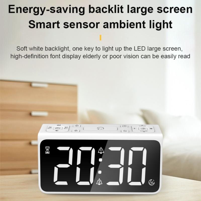 Betrieb Batterie N0T3 Neuer digitaler Wecker LED-Spiegel Großanzeige Wecker