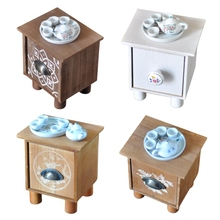 Newborn Coffee Table and Teapot Tea Bowl Tea Tray Set Baby Full Moon Photo Shooting Props Infant Photography Accessories