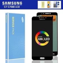 Ensemble écran tactile LCD Super AMOLED de remplacement, pour Samsung Galaxy C7 C7000
