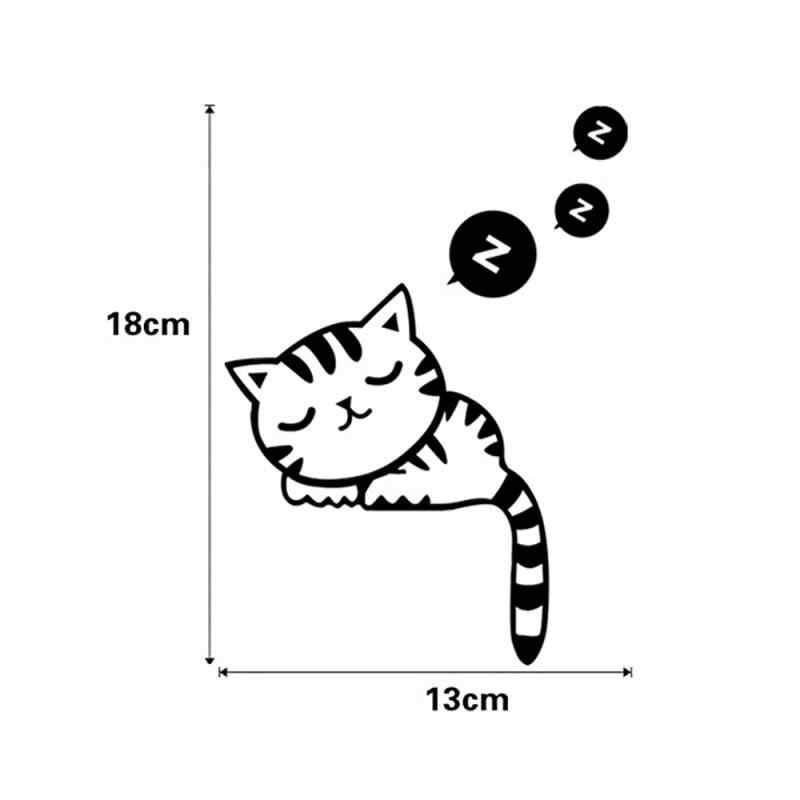 1pc Cartoon DIY מצחיק חמוד חתול Switcher מדבקות קיר מדבקות עיצוב הבית חדר שינה סלון קישוט