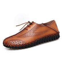 Натуральная Кожа Мужчины Свободного Покроя Обувь Роскошь 2020 Мужские Мокасины Мокасины Дышащие Скольжения На Черный Вождения Плюс Размер 38-47
