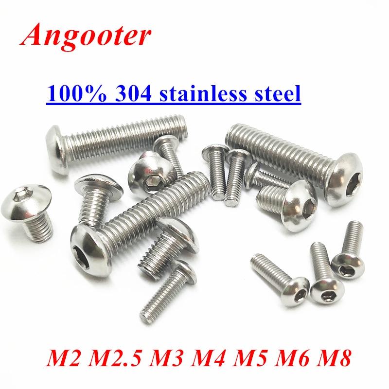 5-20pcs M5 Stainless Steel Allen Button Head Hex Socket Cap Screw Bolt ISO7380