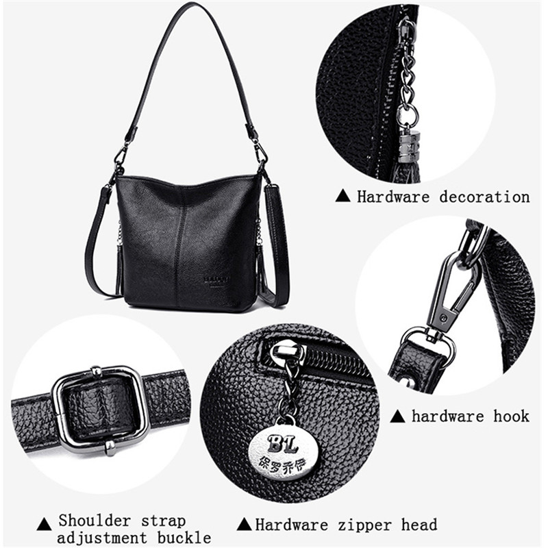 Image 5 - Small Crossbody Bags For Women Soft Leather Tassel Luxury Handbags Women Bags Designer Female Shoulder Messenger Bag Sac A MainShoulder Bags   -