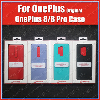 Перейти на Алиэкспресс и купить IN2010 официальная коробка Oneplus 8 чехол, бампер из песчаника (100% оригинал) Oneplus 8 Pro Чехол 7T Pro, нейлоновый чехол из песчаника Karbon