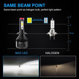 Image 5 - ナオH7 led H4 H11 HB4 9006 9005 HB3 H1 H8車ヘッドライト電球cob smd 6000 18kホワイト30ワット12v H3 H13 9007 9004自動車の付属品