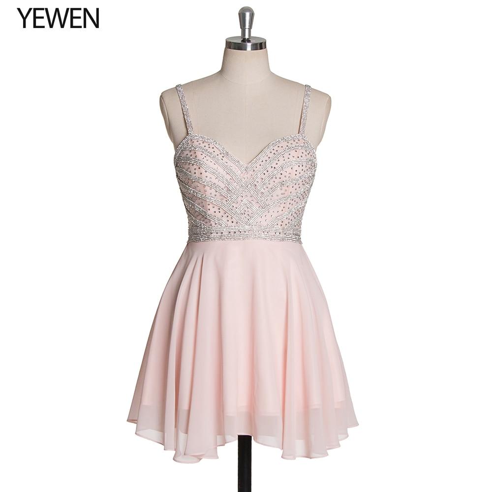 Элегантные расшитые бисером розовые платья для выпускного вечера 2019 сексуальные короткие с v-образным вырезом Вечерние платья для
