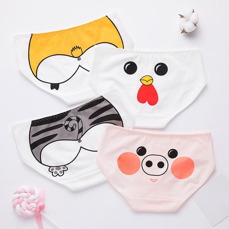 Cute Women Animal Pig Pattern Panties Underwear Interesting Breathable Comfortable Cartoon Print Girl Briefs Panties knickers