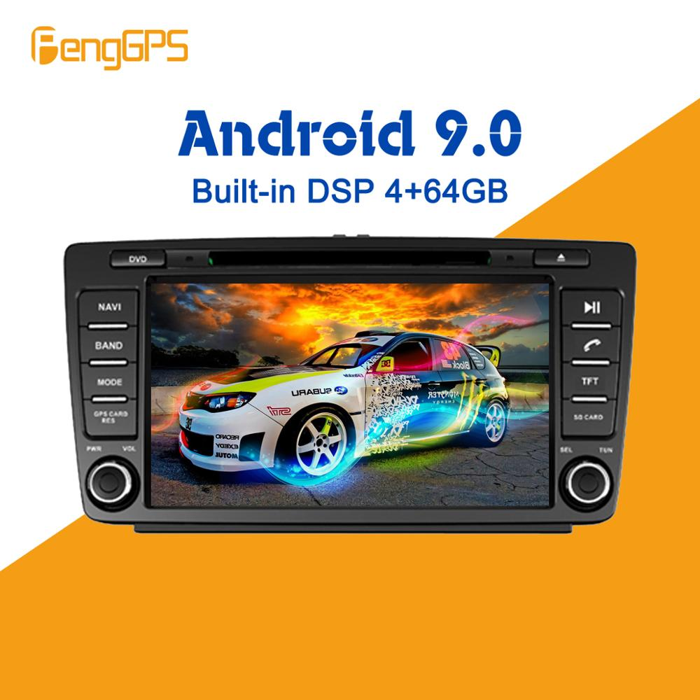 Android 9.0 4+64GB DVD player Built-in DSP Car <font><b>multimedia</b></font> Radio For <font><b>Volkswagen</b></font> VW Skoda Octavia <font><b>Golf</b></font> 5 <font><b>6</b></font> touran GPS Navigation image