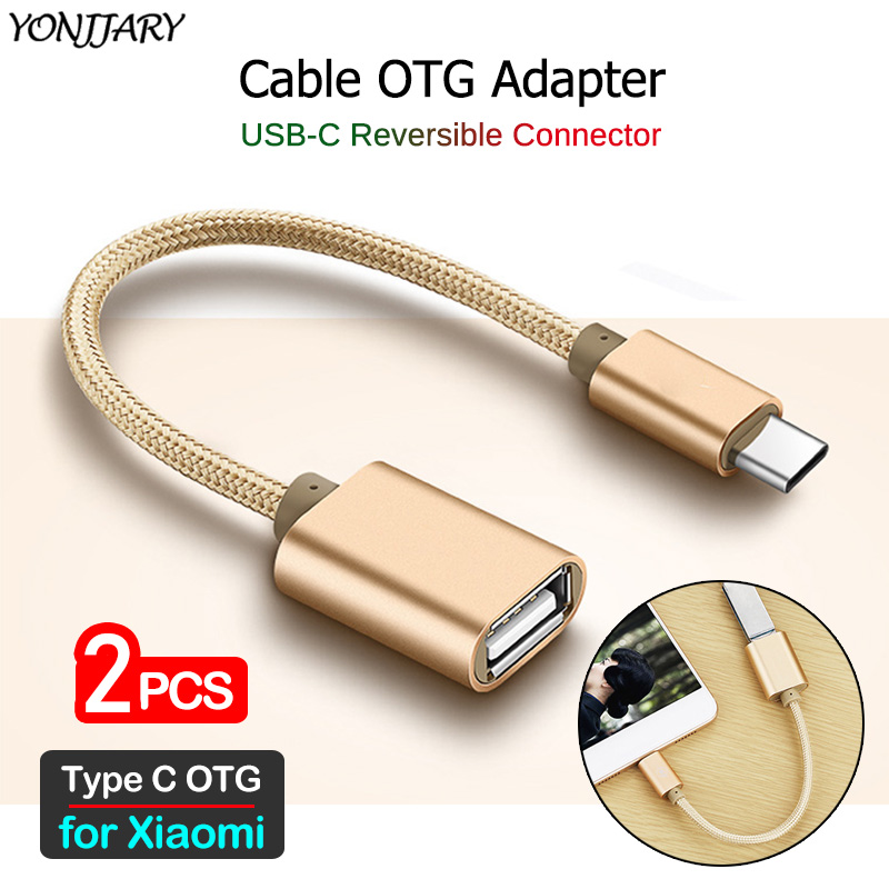 USB-C OTG Adapter Cable For Xiaomi Mi 10 9T Pro 9 8 SE Lite Mi 6 5 5S 5X 6X A1 A2 A3 Poco X2 F1 Type C USB OTG Cable Converter