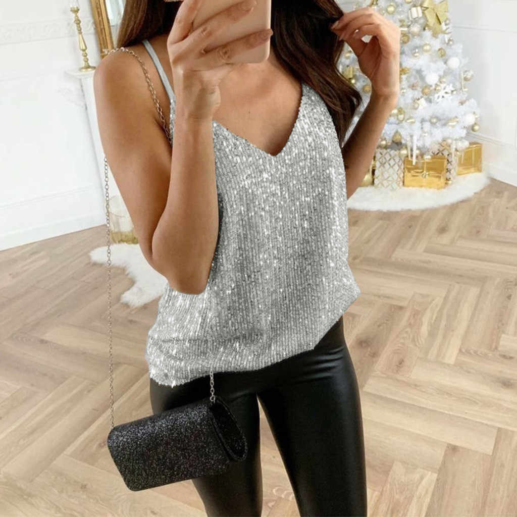 #40 vrouwen zomer tops Glitter Strappy Tank Tops Dames Sexy Sparkle Cami Swing Vest Clubwear backless top fluwelen crop top